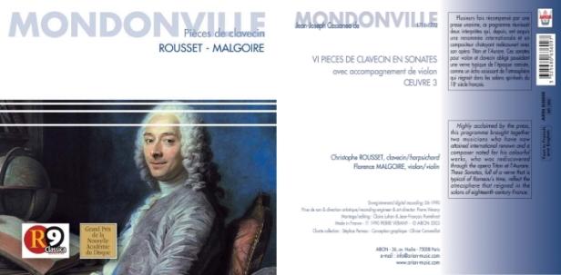Christophe Rousset au clavecin et Florence Malgoire au violon nous interprètent 6 Sonates, Opus 3 de Mondonville