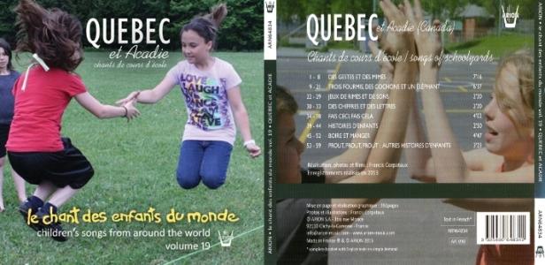 Les enfants de Québec et de l'Acadie chante des comptines de cours d'école