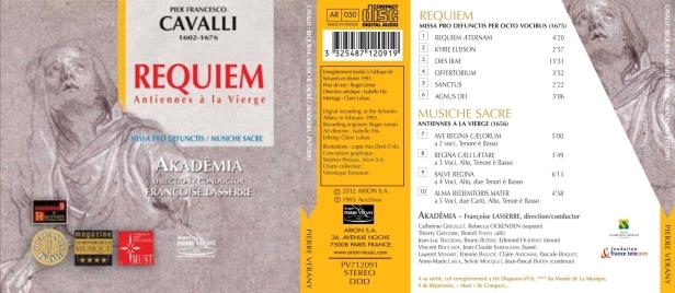 Requiem et Antiennes à la Vierge de Pier Francesco Cavalli par l'Ensemble Akademia dirigé par Françoise Lasserre