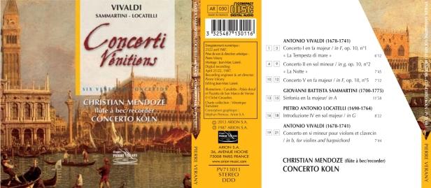 Antonio Vivaldi - Six Concerti Venitiens interprétés par le Concerto Köln dirigé par Christian Mendoze