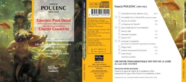 Concerto pour orgue et Concerto Champêtre de Francis Poulenc par François-Henri Houbart