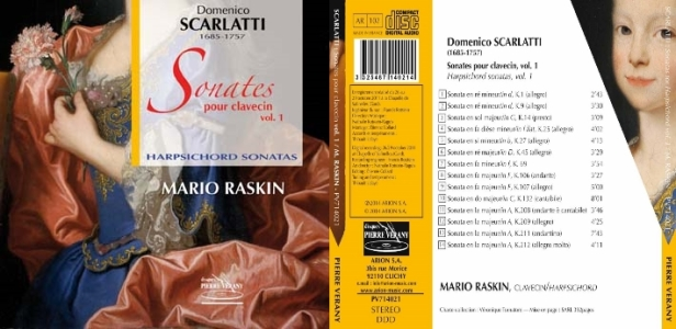 Mario Raskin interprète sur ce vol. 1 les Sonates de D. Scarlatti au clavecin