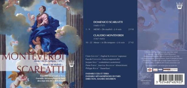 """La Messe """"In Illo Tempore"""" de Claudio Monteverdi et la Messe """"de Madrid"""" de Domenico Scarlatti par l'Ensemble Vocal Coeli et Terra et l'Ensemble Métamorphoses de Paris dirigé par Maurice Bourbon"""