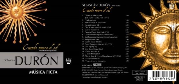 Sebastian Duron  - Cuando muere el sol par l'Ensemble Musica Ficta composé de Jairo & Carlos Serrano, ténor & flûte à bec, Julian Navarro, guitare baroque et Elisabeth Wright au clavecin