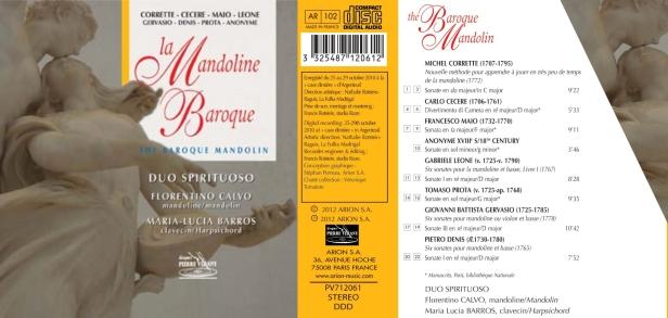 La Mandoline baroque par le Duo Spirituoso compose de Maria-Lucia Barros au clavecin et Florentino Calvo à la mandoline