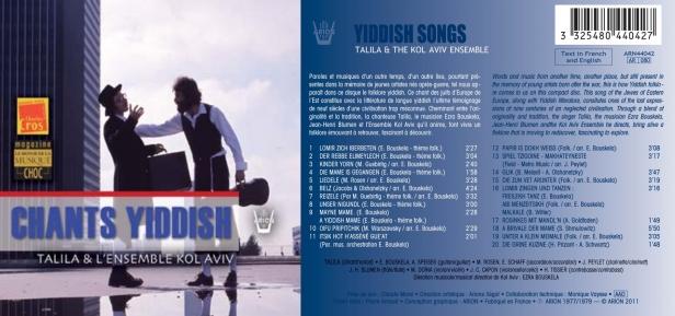 Chants Yiddish par Talila & l'Ensemble de Kol Aviv, dirigé par Jean-Henri Blumen