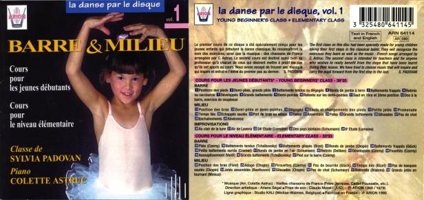 La danse par le disque Vol.1 - Barre & milieu - Classe de Sylvia Padovan accompagnée par Colette Astruc
