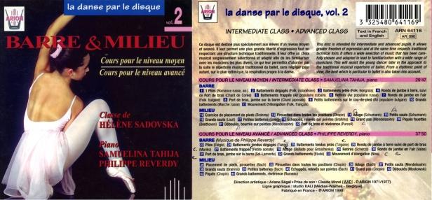La danse par le disque Vol.2 - Barre & milieu - Cours niveaux moyen & avancé, classe d'Hélène Sadovska - Samuelina Tahija et Philippe Reverdy au piano