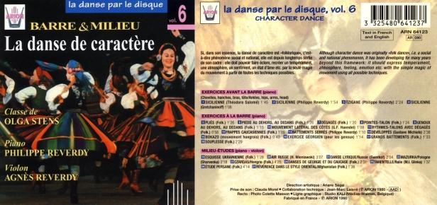 La danse par le disque Vol.6 - Barre & milieu - La danse de caractère - Classe de Olga Stens, accompagné par Agnès et Philippe Reverdy Philippe au violon et au piano