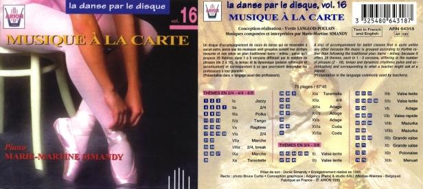 La danse par le disque Vol.16 - Musique à la carte, accompagné par Marie-Martine Simandy au piano