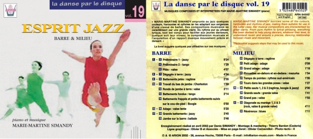 La danse par le disque Vol.19 - Esprit jazz - barre & milieu, accompagné par Marie-Martine Simandy au piano
