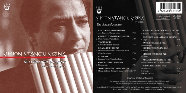 "Simion Stanciu ""Syrinx"" - The Classical Panpipe avec Walter Artho au piano"
