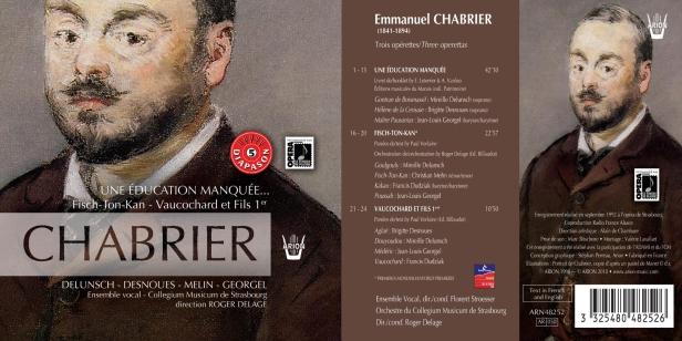 """Emmanuel Chabrier - """"Une éducation manquée"""" - """"Fish Ton Kan"""" - """"Vaucochard et fils 1er"""" par l'Ensemble Vocal Collegium Musicum de Strasbourg dirigé par Roger Delage"""