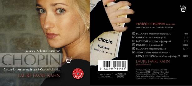 Frédéric Chopin - Ballades - Scherzo - Fantaisies... interprété par Laure Favre-Kahn au piano