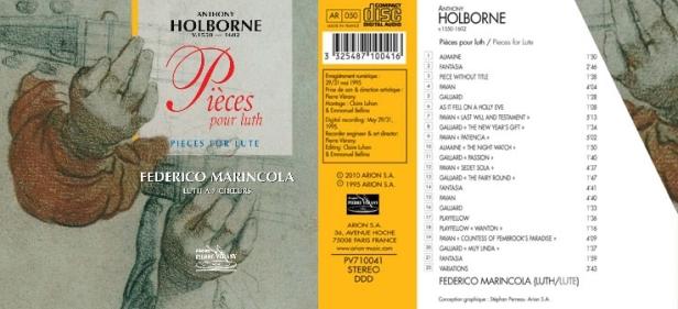 Holborne - Pièces pour luth interprétées par Federico Marincola au luth à 7 chœurs