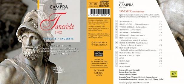 """André Campra - """"Tancrède"""" interprété par l'Ensemble instrumental de Provence dirigé par Clément Zaffini"""
