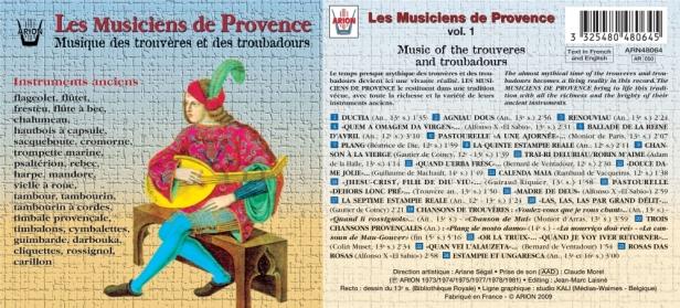 Les Musiciens de Provence - Musique des Trouvères et des Troubadours - Direction Maurice Guis