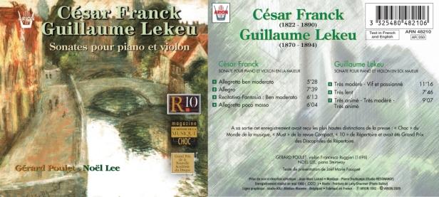César Franck / Guillaume Lekeu - Sonates pour piano et violon interprétées par Gérard Poulet au violon et Noël Lee au piano