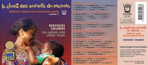 Chant des Enfants du Monde Vol. 3 - Berceuses - Collection Francis Corptataux