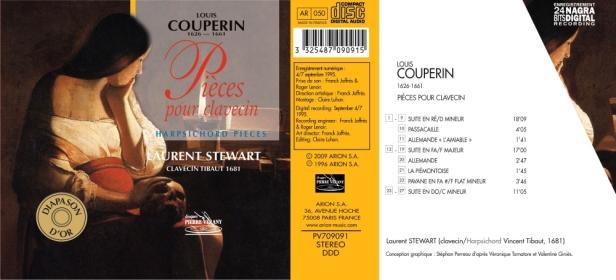 François Couperin - Pièces pour clavessin - pavanes, suites, passacailles...par Laurent Stewart sur clavecin Tibaut 1681