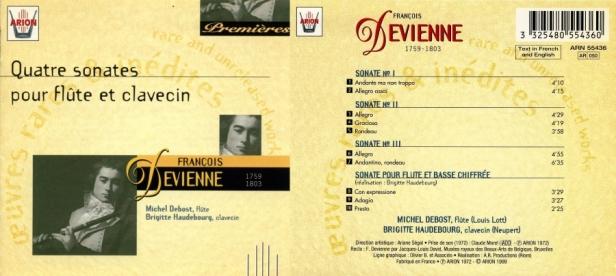 François Devienne - Quatre Sonates pour Flûte & Clavecin par Brigitte Haudebourg au clavecin et Michel Debost à la flûte