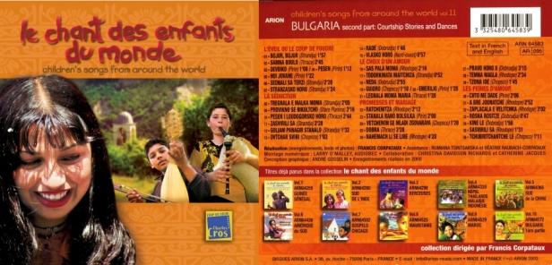 Le Chant des Enfants du Monde Vol. 11 - Bulgarie Vol.2 - Les héritiers d'une tradition - Enregistré par Francis Corpataux