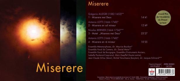 """""""Miserere"""" par l'Ensemble Vocal Da Camera, l'Ensemble Métamorphoses et l'Ensemble Vocal de Bourgogne"""