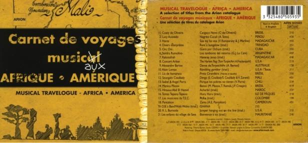 """Catalogue Musique Traditionnel 2002 """"Carnets de Voyages Musicaux"""" - Afrique / Amérique"""