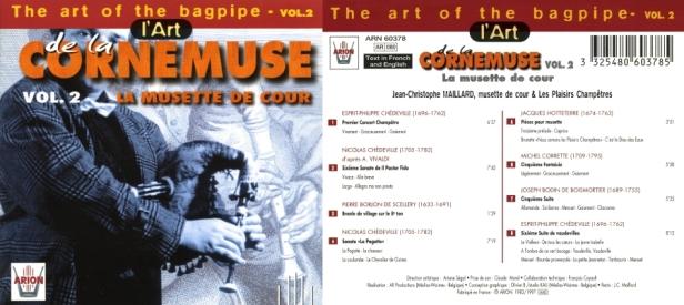 L'Art Cornemuse Vol. 2 - La Musette de Cour avec Jean-Christophe Maillard et Les Plaisirs Champêtres