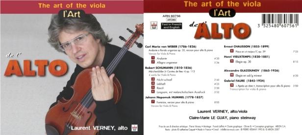L'Art de L'Alto avec Laurent Verney à l'alto et Claire-Marie Le Guay au piano