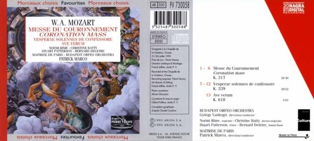 """Wolfgang Amadeus Mozart """"Messe du Couronnement"""" avec la Maîtrise de Paris dirigée par Patrice Marco et la Budapest Orfeo Orchestra dirigée par Gyorgy Vashegyi"""