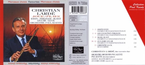 """Christian Larde Joue…"" Joseph Haydn - Giovanni Battista Pergolesi - Jean-Marie Leclerc - Christoph Willibald Gluck  - Michel  Blavet"
