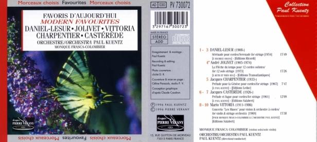 """""""Favoris d'aujourd'hui"""" avec l'Orchestre Paul Kuentz et Monique Frasca-Colombier au violon"""