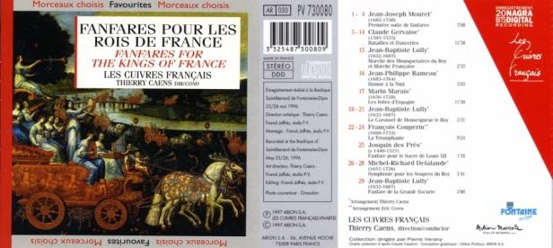 """""""Fanfares pour les Rois de France"""" avec Les Cuivres Français dirigés par Thierry Caens à la trompette"""
