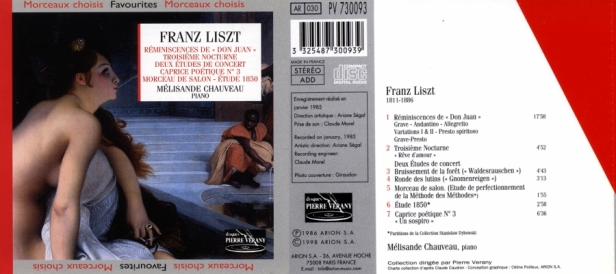 """Franz Liszt """"Réminiscences de """"Don Juan"""" - 3ème Nocturne - 2 Etudes de concert - Caprice poétique N°3 - Morceau de salon - Etude 1850"""" par Mélisande Chauveau au piano"""