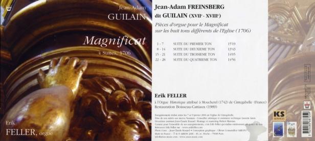 """Jean-Adam Guilain """"4 Suites pour le Magnificat (1706)""""par Erik Fellerà l'orgue de Cintegabelle"""