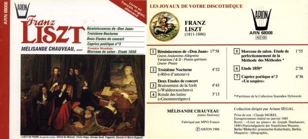 ARN68008 - Lizst - Chauveau