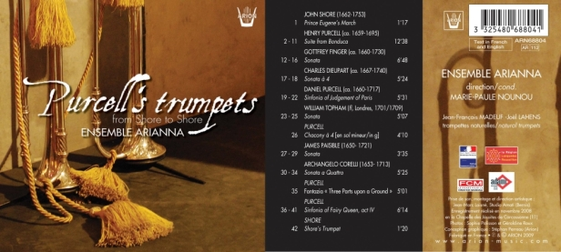 """Henry Purcell's trumpets """"From Shore to Shore..."""" avec l'Ensemble Arianna dirigé par Marie-Paule Nounou"""