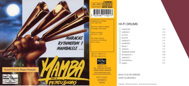 """Mamba Percussions Vol.2""avec Jean-Claude Kerinec au Maracas et rythmotom et Elmeddah Staff au Mambalele"