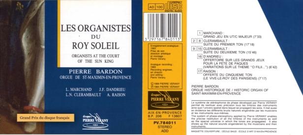 """""""Les organistes du Roy Soleil"""" avec Pierre Bardon à l'orgue de St-Maximin-en-Provence"""