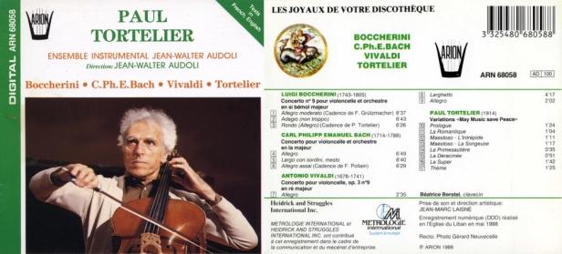 """""""Concertos pour Violoncelle"""" avec Paul Tortelier et l'Ensemble Instrumental Jean-Walter Audoli"""