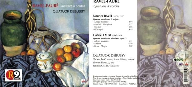 ARN68647-Ravel Fauré-Quatuor Debussy