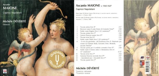 """Ascanio Maione""""Capricci Napoletani"""" avec Michèle Dévérité au clavecins Chevalier & Anselm"""
