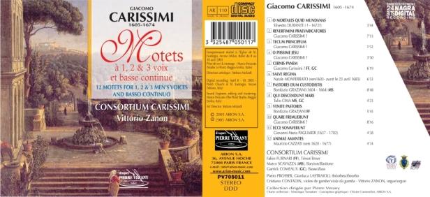 PV705011-Consortium Carissimi-Motets