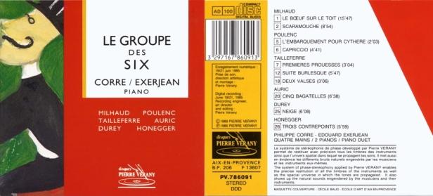 """""""Le Groupe des Six"""" avec le Duo Edouard Exerjean et Philippe Corre, quatre mains au piano"""