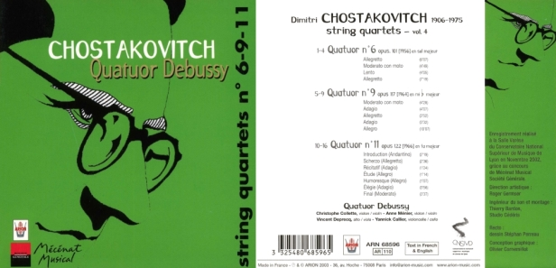 ARN68596-Chostakovitch-Quatuor Debussy