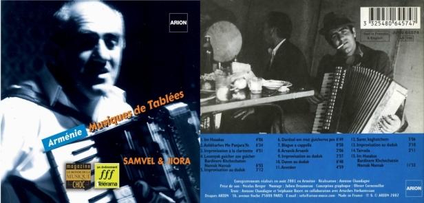 """""""Armenie - Musiques de tablées"""" avec Samvel & Jiora"""