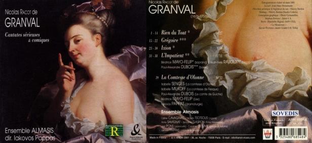 """Nicolas Racot de Granval """"Cantates sérieuses & comiques"""" avec l'Ensemble Almasis, Pappas Iakovos"""
