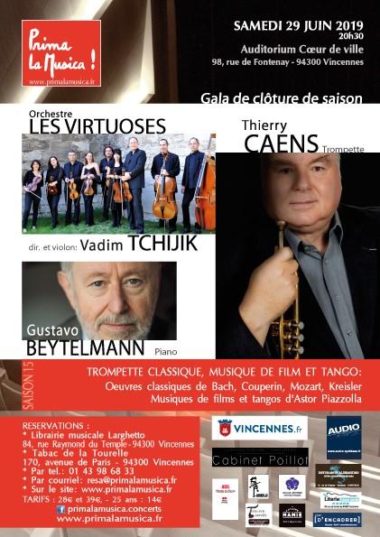 Le 29 juin à l'Auditorium de Vincennes avec Vivartis et Thierry Caens à la trompette