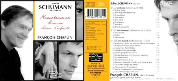 """Robert Schumann """"Kreisleriana - Romances - Scènes d'enfants"""" par François Chaplin au piano Steinway"""